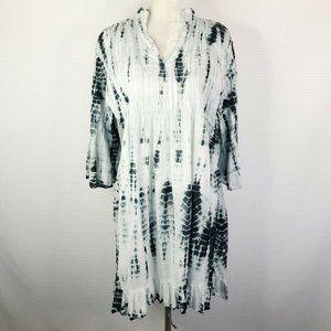 Soft Surroundings Marbella Dress Tie Dye White M